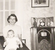 My mom and me in late 1952.