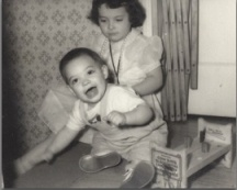 An Old  Christmas Photo of my Brother and Me