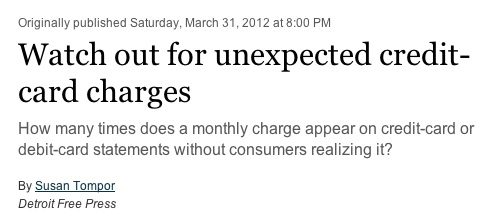 Watch Out for Unexpected Recurring Charges on a Parent's Credit Card