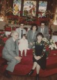 M.y family at the front of the church at Christmas 1982
