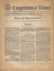 The Congressional Recorded from February 22, 1963 when Rev. Benedetto gave the opening prayer in the United States Senate.