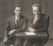 Two ministers- my grandfather and my dad in the mid-1940s.