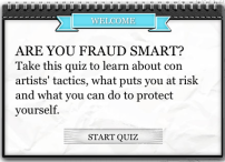 Click on the image to take the AARP Fraud Quiz.