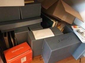 boxes of family records 2